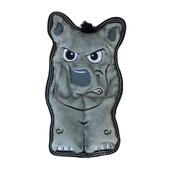 Outward Hound Invincibles Tough Seamz Rhino Plush Dog Toy