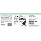 JustFoodForDogs Skin & Allergy Care Gel Capsules for Dogs