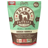 Primal Raw Frozen Canine Patties Chicken Formula Dog Food