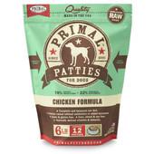 Primal Raw Frozen Canine Patties Chicken Formula Dog Food