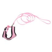 Coastal Comfort Soft Adjustable Pink Bright Cat Harness with 6' Leash