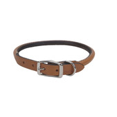 Circle T Oak Tanned Tan Leather Round Dog Collar