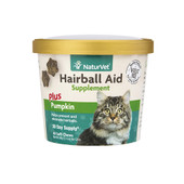 NaturVet Hairball Aid Soft Chews for Cats