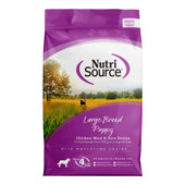 NutriSource Large Breed Chicken and Rice Formula Dry Puppy Food