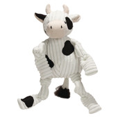 HuggleHounds Knottie Cow Plush Dog Toy