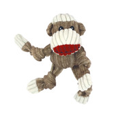 HuggleHounds Knottie Sock Monkey Plush Dog Toy