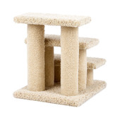 Urban Cat CK Triple Step Cat Stairs with Carpeted Legs