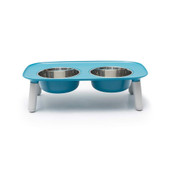 Messy Mutts Elevated Double Feeder Dog Bowl
