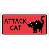 Hillman Attack Cat Sign