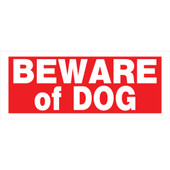 Hillman White on Red Beware of Dog Sign