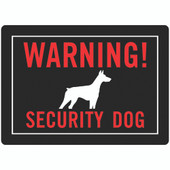 Hillman Security Dog Warning Sign