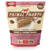 Primal Pronto Raw Frozen Canine Turkey & Sardine Formula Dog Food