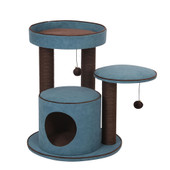 PetPals Meadow Chenille Cat Tree With Condo