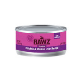 RAWZ Shredded Chicken & Chicken Liver Recipe Adult Canned Cat Food