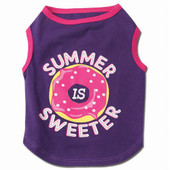 Petrageous Designs Summer Is Sweeter Graphic Tee for Dogs