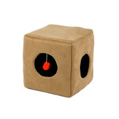 Casual Pet Tan Suede Kitty Cube Cat Toy