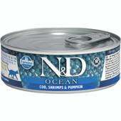 Farmina N&D Ocean Cod, Shrimp & Pumpkin Recipe Adult Canned Cat Food