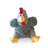 NanDog My BFF Grey Plush Rooster Dog Toy