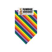 FunDog Bandanas Rainbow Stripes Dog Bandana