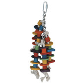 Featherland Paradise Small Hanging Thimbles Up Bird Toy