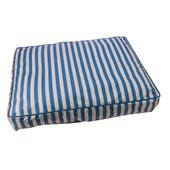 Sleep Zone Blue Cabana Pillow Pet Bed