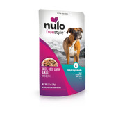 Nulo Freestyle Puppy & Adult Beef, Beef Liver & Kale in Broth Recipe Dog Food Pouch