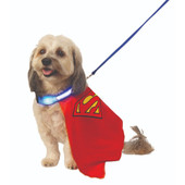 Rubie's DC Comics Superman Pet Cape with Light Up Collar & Leash Pet Costume