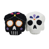FuzzYard Halloween Skulls Plush Dog Toy