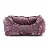 NanDog Lavender Crushed Velvet Pet Bed