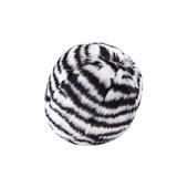Fluff & Tuff Squeakerless Zebra Ball Plush Dog Toy