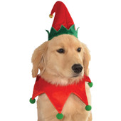 Rubie's Dog Elf Hat With Bell & Collar