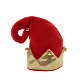 SimplyCat Red Elf Bell Cat Hat