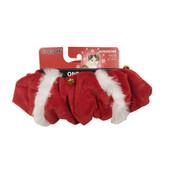SimplyCat Red Santa Bell Cat Scrunchie