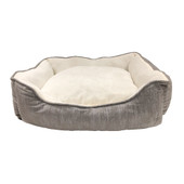 Pure Comfort Cuddler Gray Modern Pet Bed