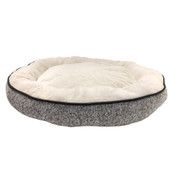 Pure Comfort Large Round Gray Knit Pet Bed