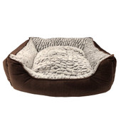 Pure Comfort Faux Fur Brown Modern Pet Bed