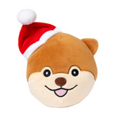 FuzzYard Holiday Dog Ball Plush Dog Toy