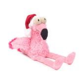 FuzzYard Holiday Flo The Flamingo Plush Dog Toy