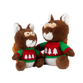 FuzzYard Holiday Nuts The Squirrel Plush Dog Toy