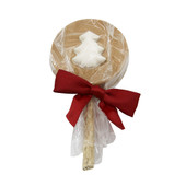 Claudia's Christmas White Tree Peanut Butter Lollipop Dog Treat