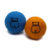 Doyen Catnip Felt Blue & Orange Ball Set Cat Toy