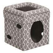 Feline Nuvo Gray Curious Cat Cube