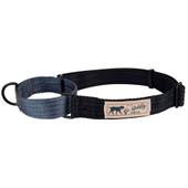 Hamilton Go Boldly Black & Gray Martingale Dog Collar