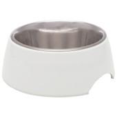 Loving Pets Ice White Retro Dog Bowl