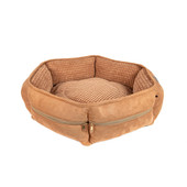Duke & Lola Zipit Taupe & Beige Memory Foam Dog Bed