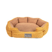 Duke & Lola Nuzzle Brown Memory Foam Dog Bed
