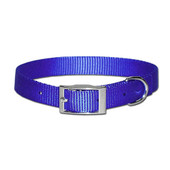 Leather Brothers One-Ply Nylon Blue Dog Collar