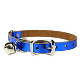 Signature Leather Safety Stretch Cat Collar