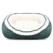 Pure Comfort Corduroy Oval Green Dog Bed