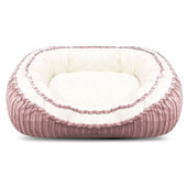 Pure Comfort Corduroy Oval Pink Dog Bed
